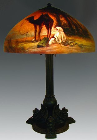 23: RARE HANDEL 6437 NOMAD WITH CAMEL LAMP