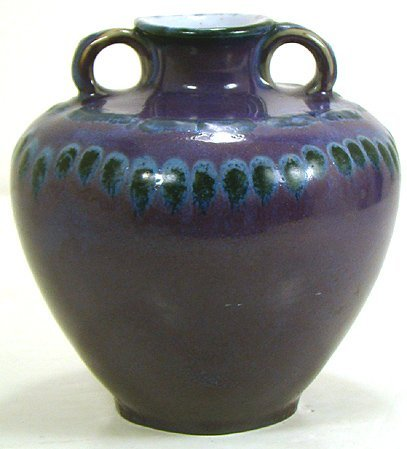 533: ROOKWOOD VASE GREAT PURPLE HUES MARKED S FOR SPECI