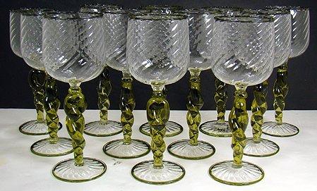 919: SET OF VENETIAN GLASS GOBLETS