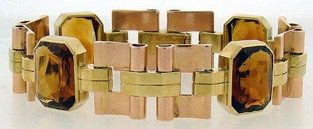 914: VINTAGE TIFFANY HEAVY 14KT GOLD BRACELET 43.8 DWT