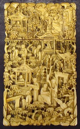 1236: EARLY CARVED IVORY CIGARETTE BOX