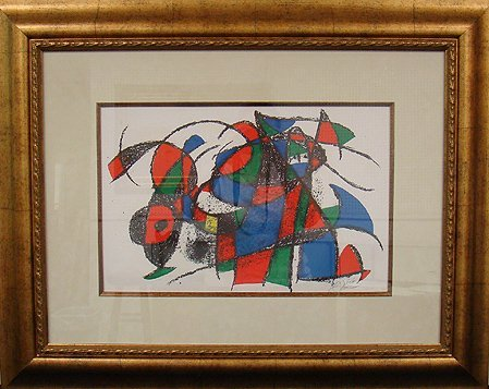 "1163: MIRO ""BOOK II ILLUSTRATION"" LITHOGRAPH, HAND SI"