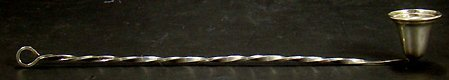 1170: VINTAGE STERLING SILVER CANDLE SNUFFER