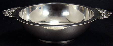 1167: LARGE TIFFANY STERLING SILVER DOUBLE HANDLED BOWL