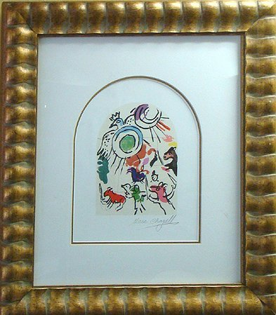 "1729: CHAGALL "" JERUSALEM WINDOWS"" COLORED LITHOGRAPH"