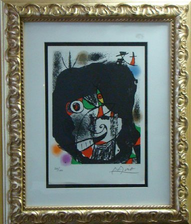 "1730: JOAN MIRO ORIGINAL LITHO TITLED ""OCTOPUSS"", HAN"