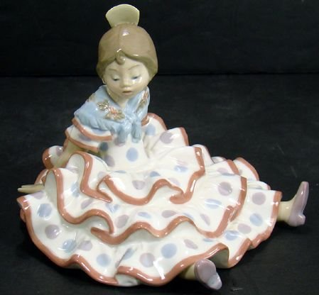 1611: LLADRO RARE A TIME TO REST 5391 5 INCHES MINT NO
