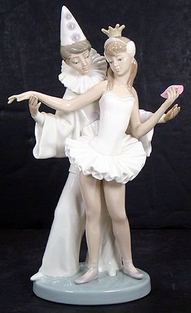 1603B: LLADRO CARNIVAL COUPLE 4882 RETIRED 1995 MINT NO
