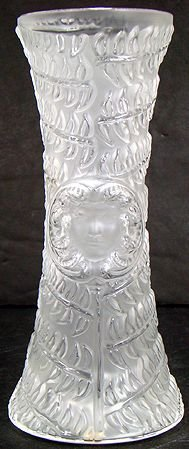 4: LALIQUE VASE FOR VERSACE 8 INCH TALL MINT
