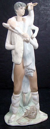6: LLADRO BOY WITH GOAT 4506 RETIRED 1985