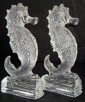 12: PAIR OF LARGE SIGNED WATERFORD SEA HORSES