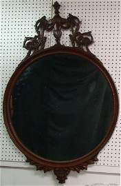 365: FABULOUS CARVED ANTIQUE MIRROR,