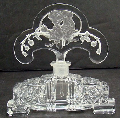 606A: GREAT CZECH CUT CRYSTAL COLOGNE
