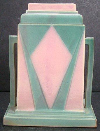 1056: ROSEVILLE FUTURA 8 INCH JUKE BOX VASE