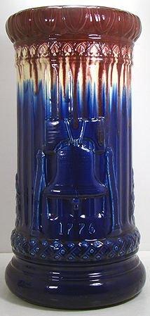 1072: McCOY  RARE 22 INCH RED WHITE AND BLUE UMBRELLA S