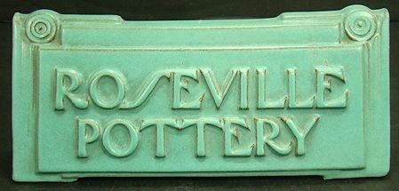 1088: ROSEVILLE MODERNE DEALER SIGN LARGEST ONE MADE