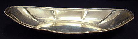 15: LARGE STERLING SILVER BREAD TRAY