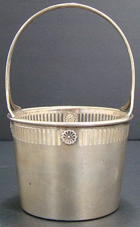 17: STERLING SILVER AND CRYSTAL BASKET