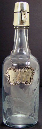 20: HAWKES CUT GLASS AND STERLING DECANTER