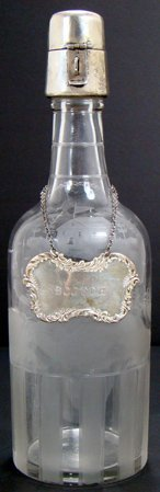 20A: HAWKES CUT GLASS AND STERLING SILVER DECANTER