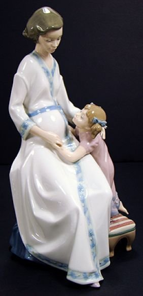 306: LLADRO MOTHER AND CHILD ANTICIPATION 5650 RARE