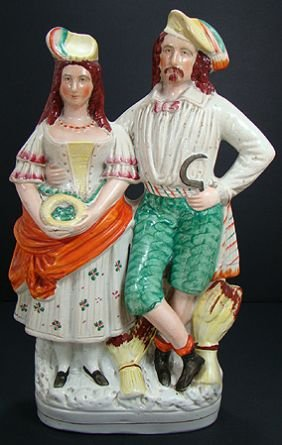 318: LARGE EARLY STAFFORDSHIRE FIGURAL GROUP