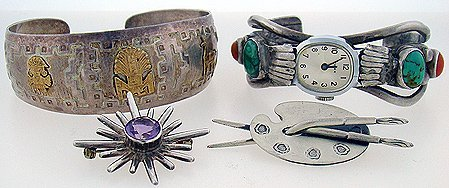 1009: 4 PIECES OF STERLING JEWELRY