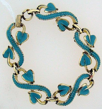 1012: BLUE ENAMEL COSTUME JEWELRY BRACELET