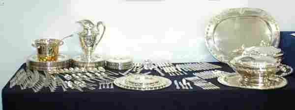 1A: HUGE STERLING SILVER DINNER LUNCH  AND FLATWARE SET