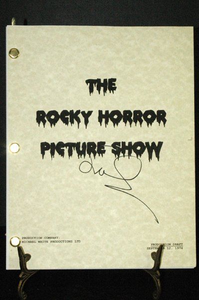 105: MOVIE SCRIPT ROCKY HORROR PICTURE SHOW SIGNED SURA