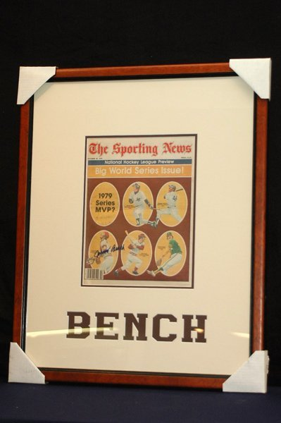 455: JOHNNY BENCH 1979 AUTOGRAPHED SPORTING NEWS COA