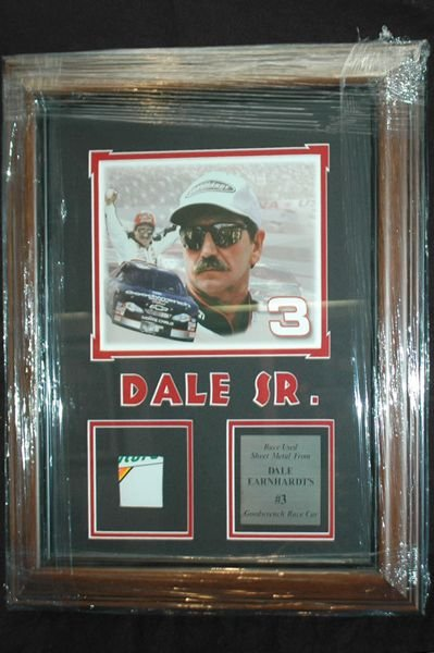 482: DALE EARNHARDT PIECE OF THE #3 CAR WITH COA