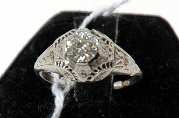 20: PLATINUM FILIGREE DIAMOND RING
