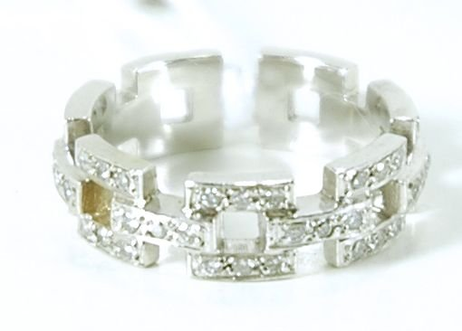 414C: 14KT WHITE GOLD DIAMOND ETERNITY BAND