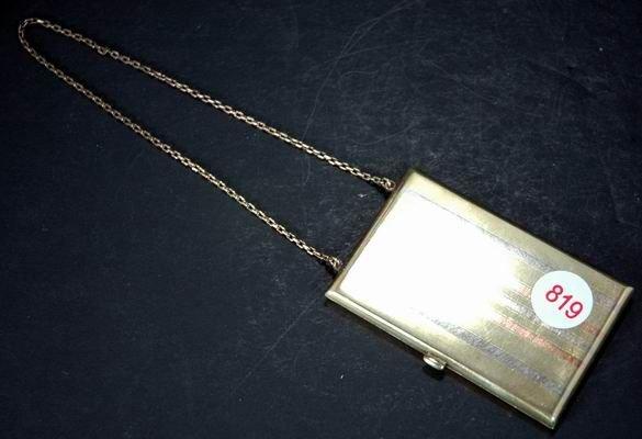 819: VINTAGE GOLD AND SILVER CIGARETTE BOX