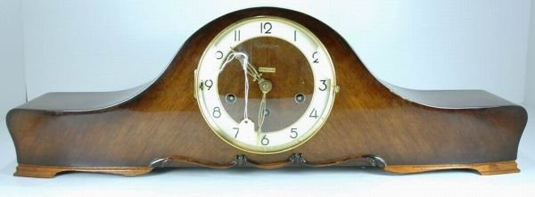 1029B: WESTMINSTER WOOD MANTLE CLOCK SUPER ANCRE