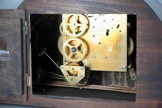 1029B: WESTMINSTER WOOD MANTLE CLOCK SUPER ANCRE - 4