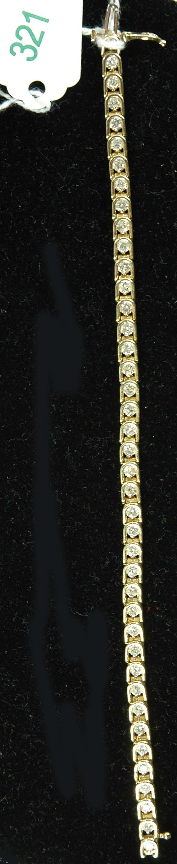 321: LADIES 3.00CT DIAMOND TENNIS BRACELET