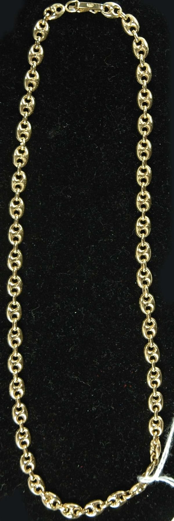 523: 18KT YELLOW GOLD GUCCI LINK CHAIN