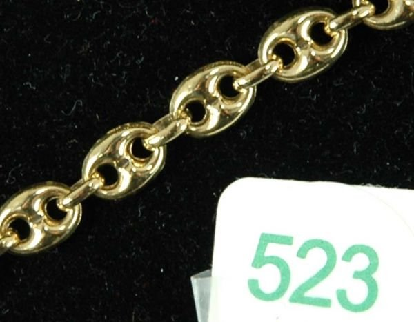 523: 18KT YELLOW GOLD GUCCI LINK CHAIN - 2