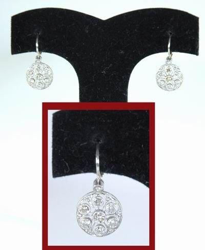 6: ART DECO PLATINUM DIAMOND EARRINGS