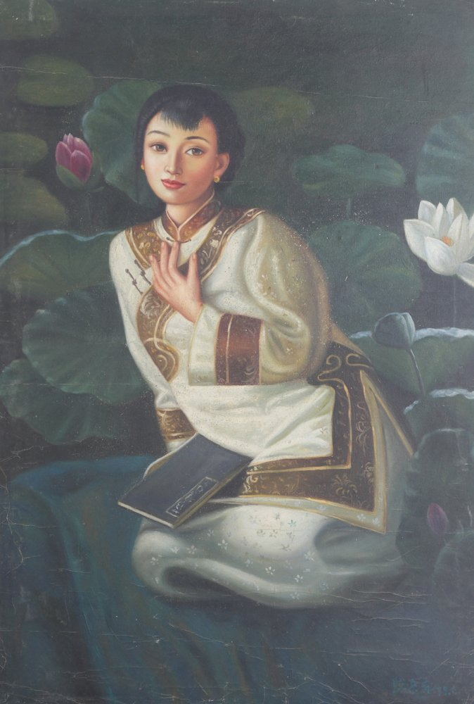 A CHEN YIFEI OIL PAINTING