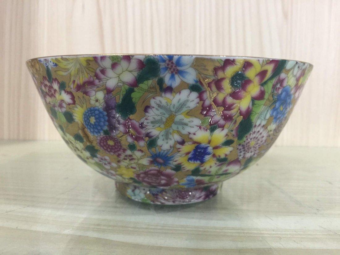 Chinese Famille Rose bowl(Bai Hua Bu Luo Di)
