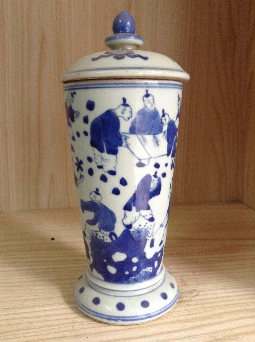 Chinese Fine Blue & White Jar