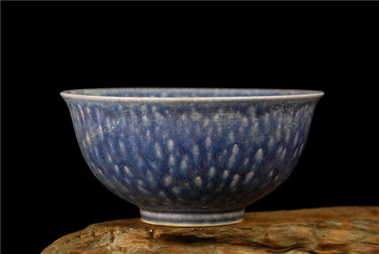 Fine Chinese Porcelain Bowl With Blue Ground