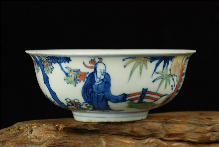 Chinese Fine Blue Underglaze Red Bowl
