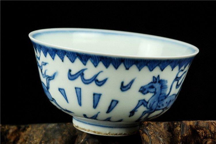 Fine Chinese Porcelain Blue & White Bowl - 3