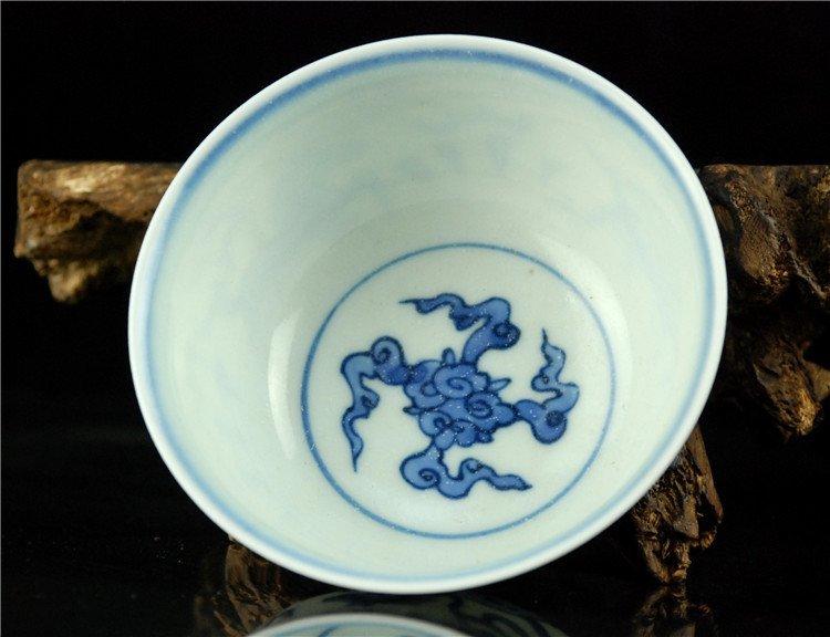 Fine Chinese Porcelain Blue & White Bowl - 4