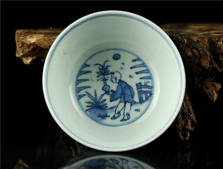 Fine Chinese Porcelain Blue & White Bowl - 3