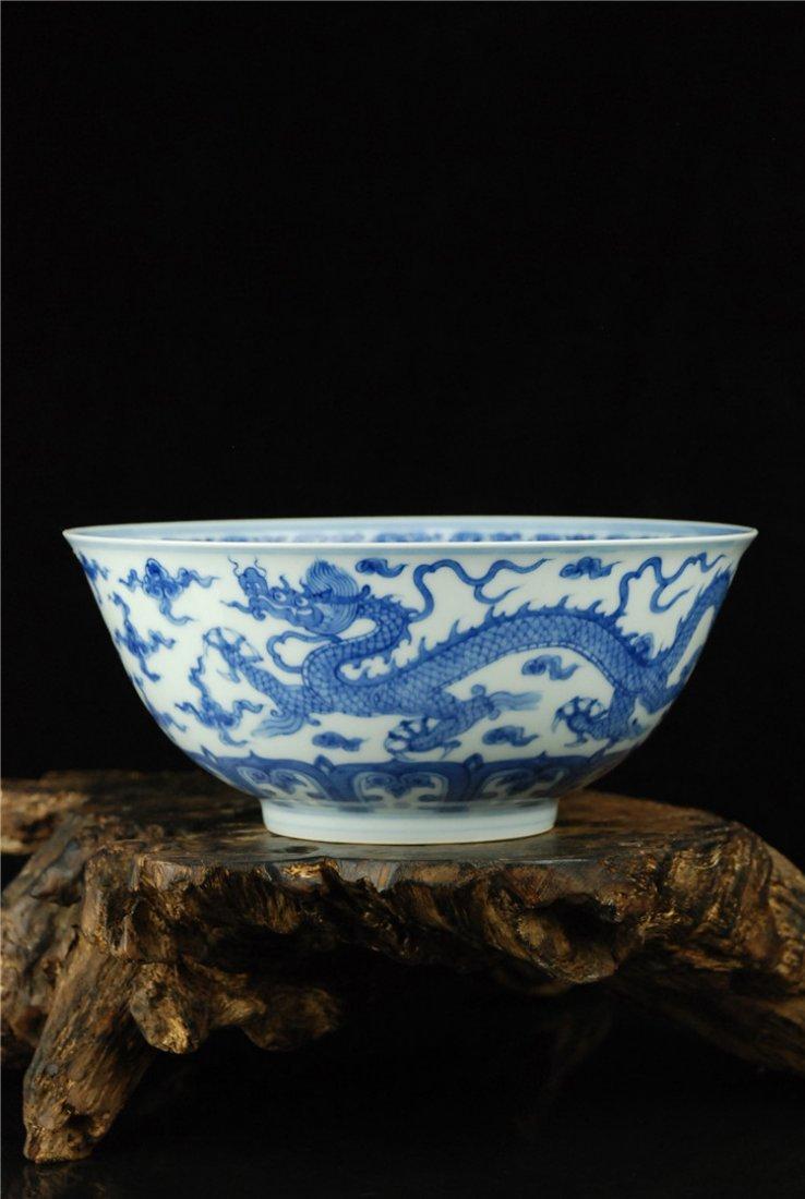 Fine Chinese Porcelain Blue & White Bowl - 2